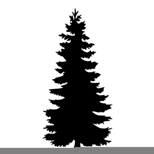 Free Clipart Pine Tree Silhouette.