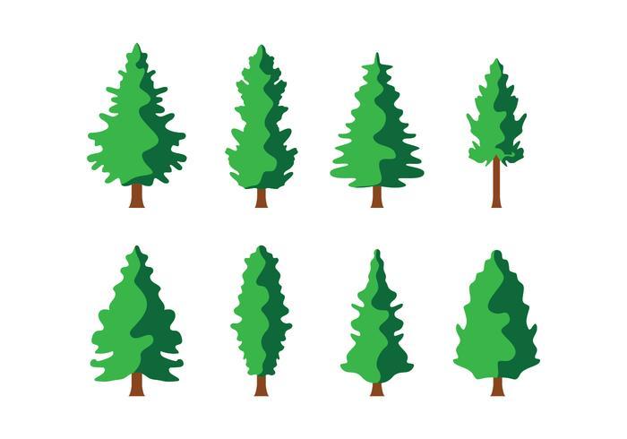 Free Pine Trees Vector.
