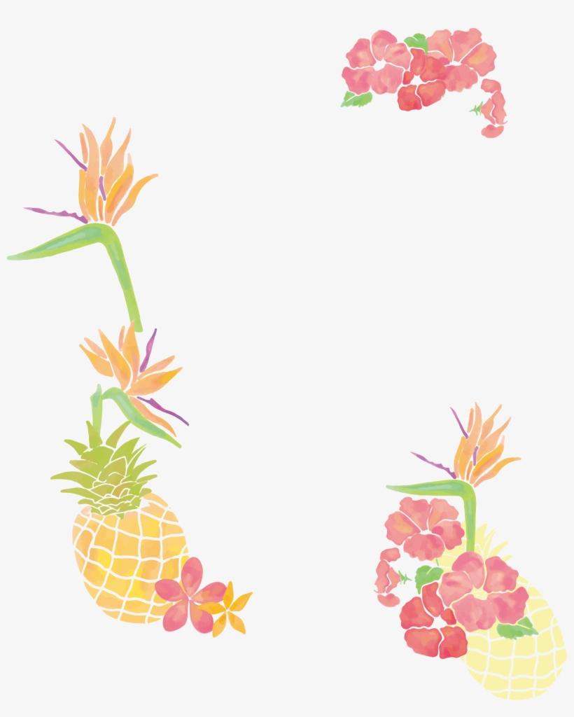 Freeuse Stock Pineapple Clip Art Small Fresh Tree Borders.