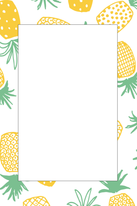 Pineapple Party Prop Frame Template.