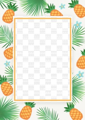 Pineapple clipart borders, Pineapple borders Transparent.