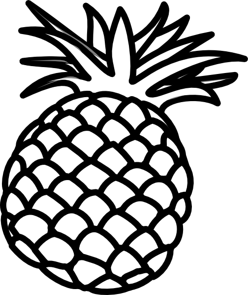 6 Best Images of Pineapple Outline Printable.