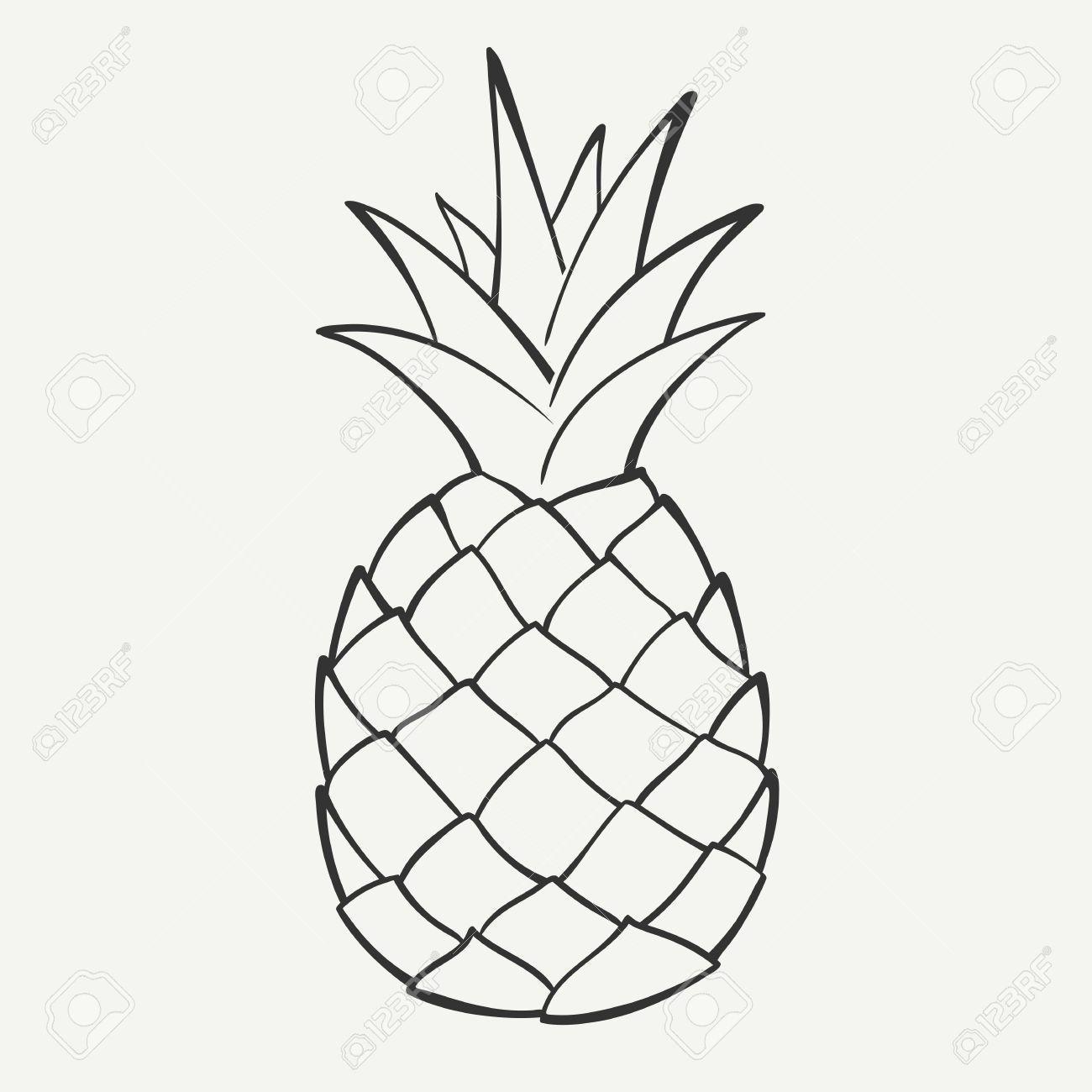 Black and white pineapple clipart 2 » Clipart Portal.