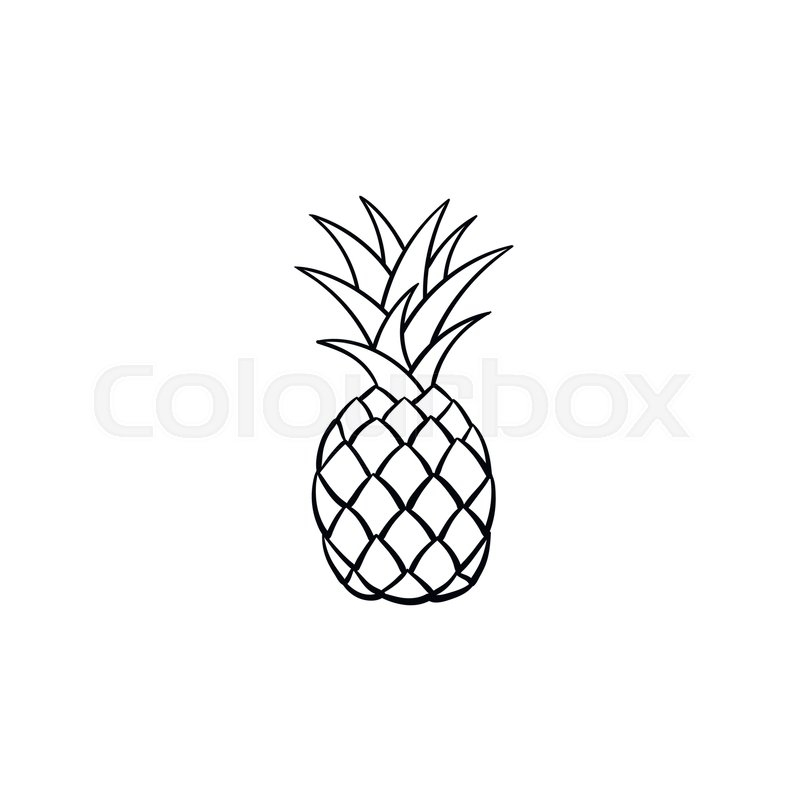 Pineapple clipart grey, Pineapple grey Transparent FREE for.