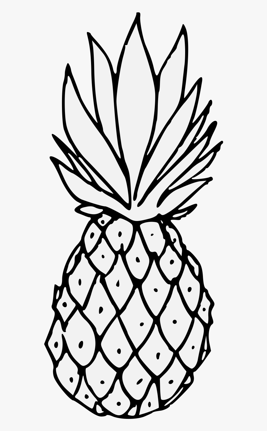 Pineapple Png Black And White , Free Transparent Clipart.