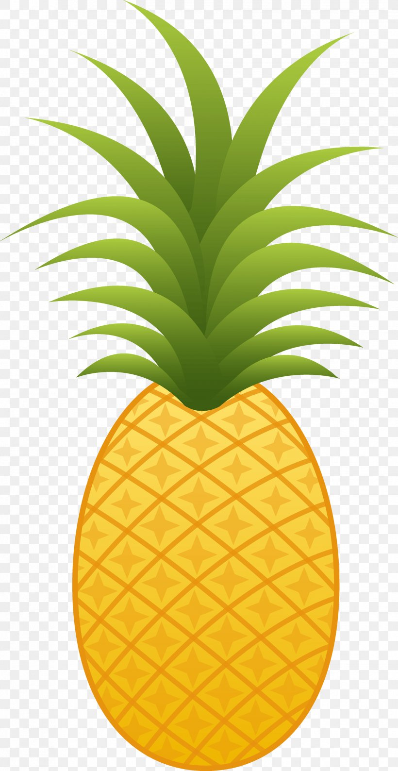 Pineapple Cuisine Of Hawaii Clip Art, PNG, 1834x3552px.