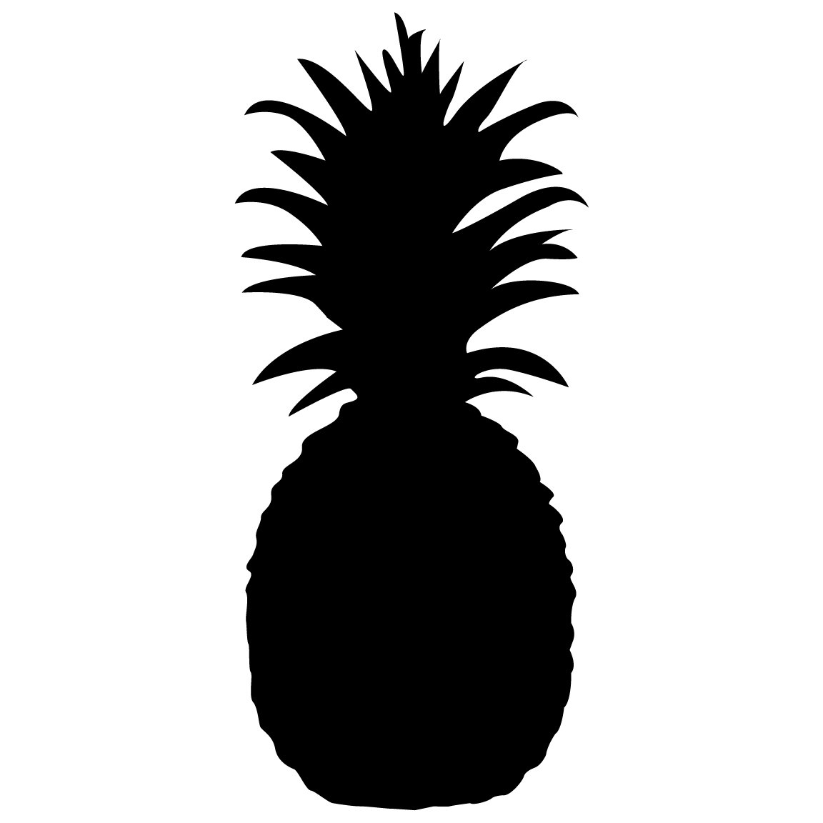 Pineapple Silhouette Clipart.