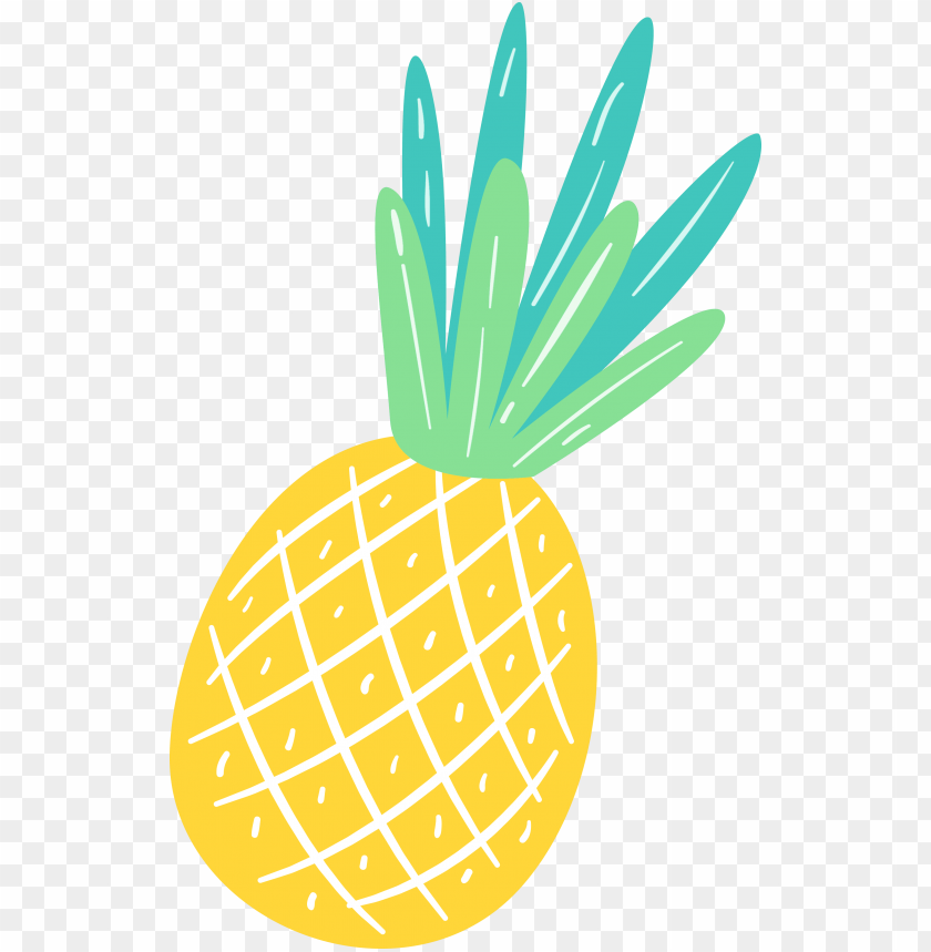 summer clipart pineapple PNG image with transparent.