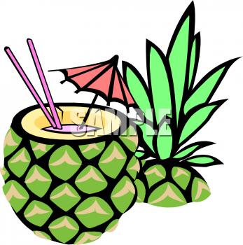 Pineapple Cartoon clipart.