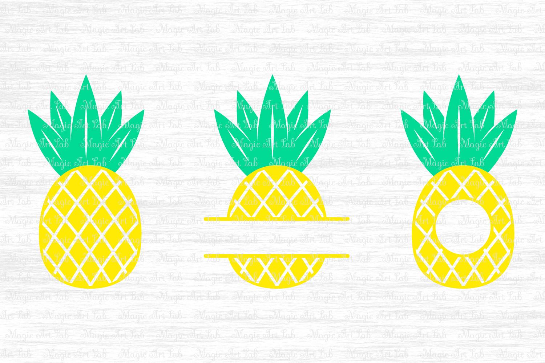 Pineapple SVG, Pineapple monogram svg, Pineapple cut file.