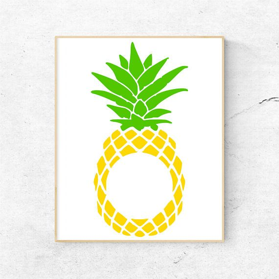 Pineapple Monogram Svg Files for Cricut, Pineapple Svg Files.
