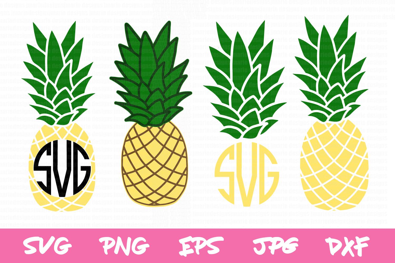 Pineapple Monogram Svg, Pineapple Svg.