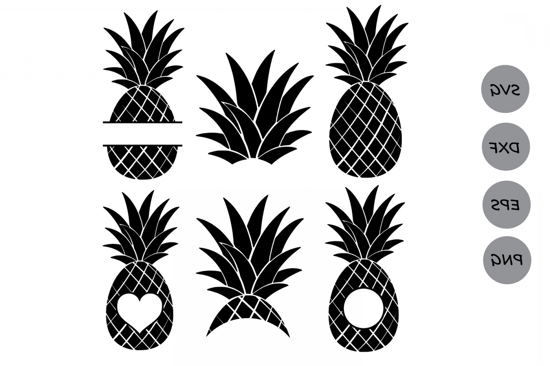 Pineapple Monogram Vector.