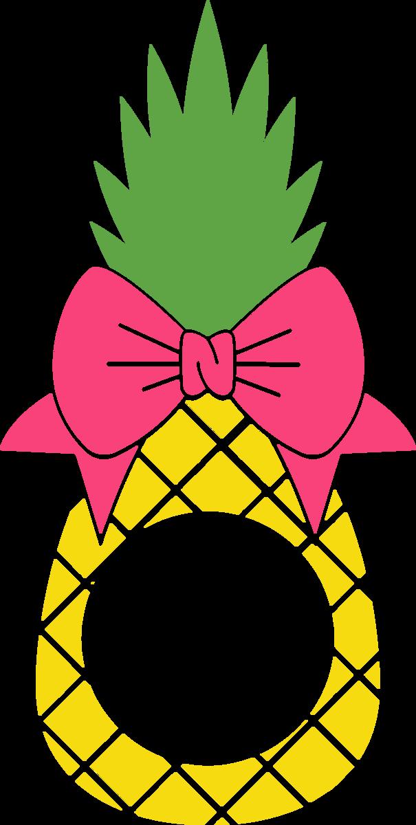 Pineapple Monogram with Bow.