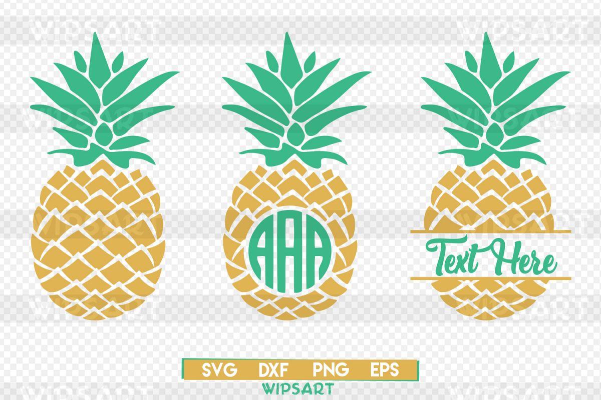 Pineapple svg, pineapple monogram svg, ananas monogram svg.