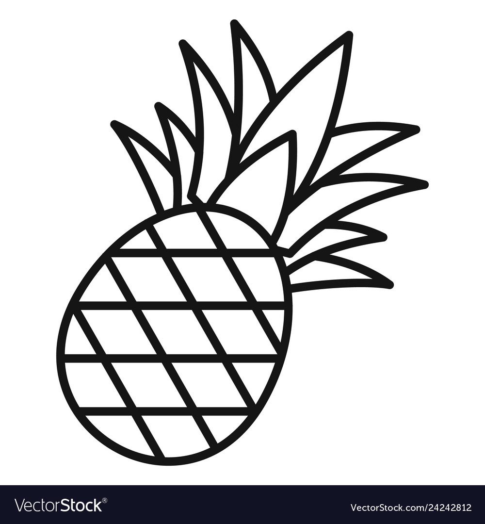 Pineapple icon outline style.