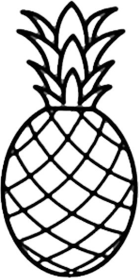 Pineapple Outline.