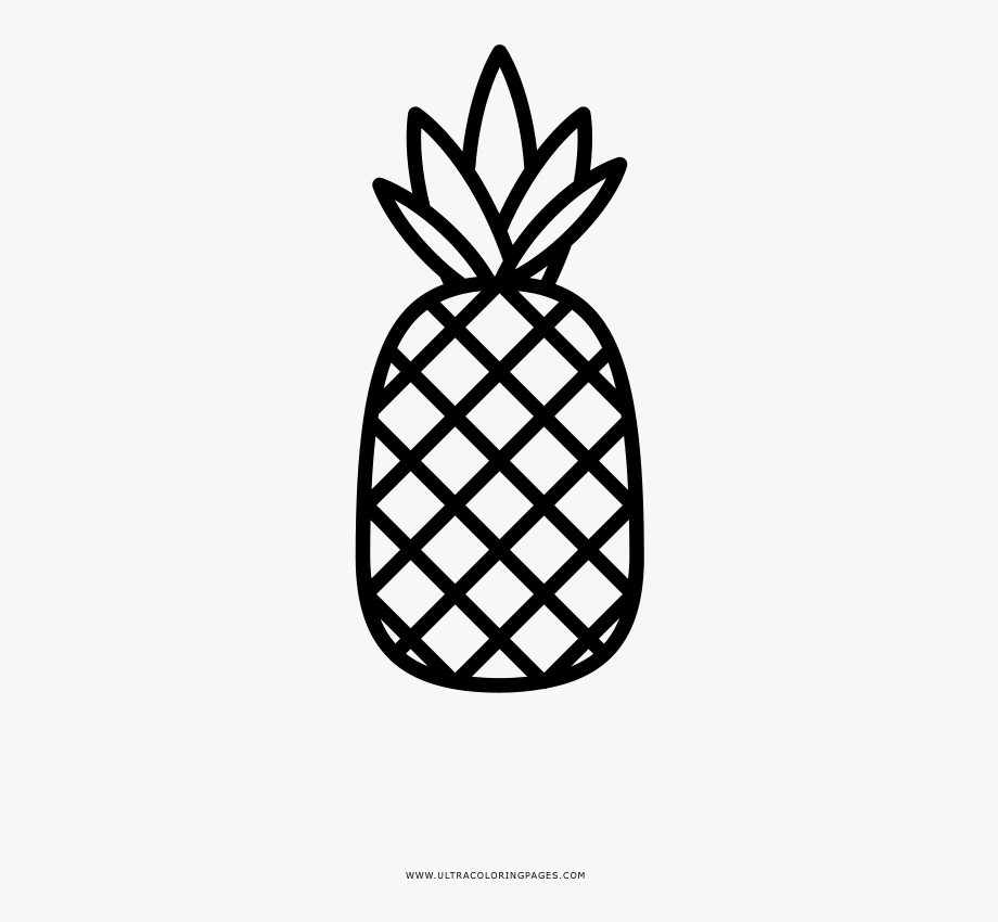 Coloring Clipart Pineapple.