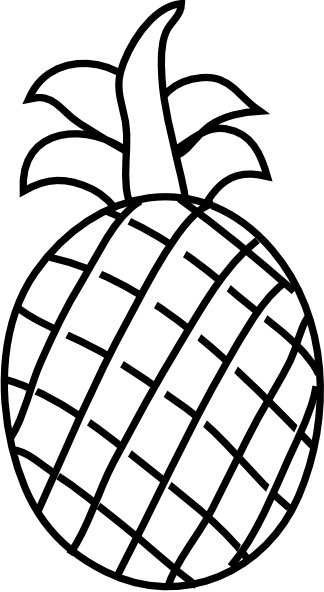 Pineapple Outline Clip Art at Clker.com.