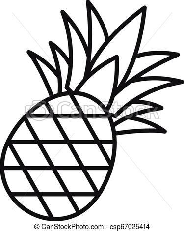 Pineapple icon, outline style.