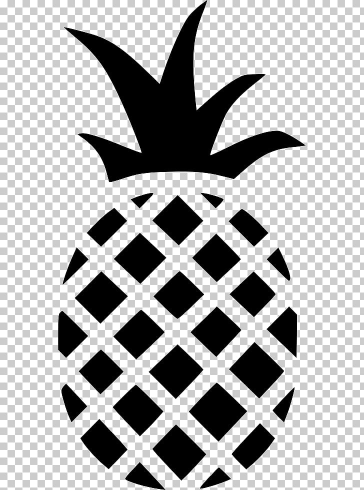 Computer Icons , Pineapple outline, black pineapple.