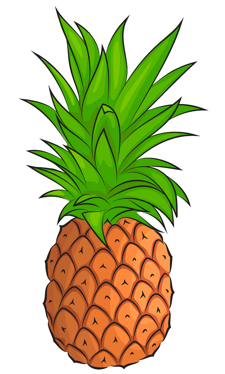 Pineapple clipart. Free download..