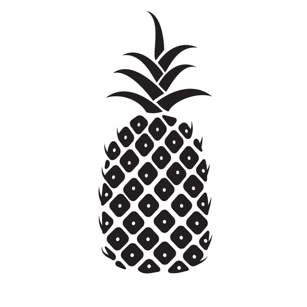 Pineapple silhouette graphics.