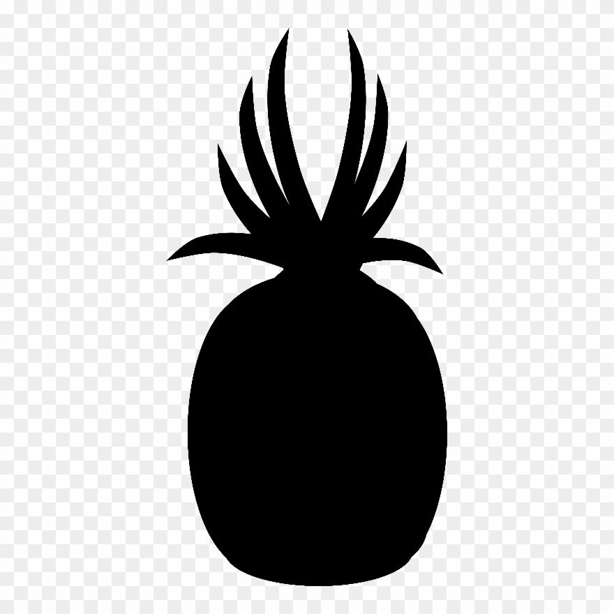 Pineapple Silhouette Transparent Background Clipart (#347500.