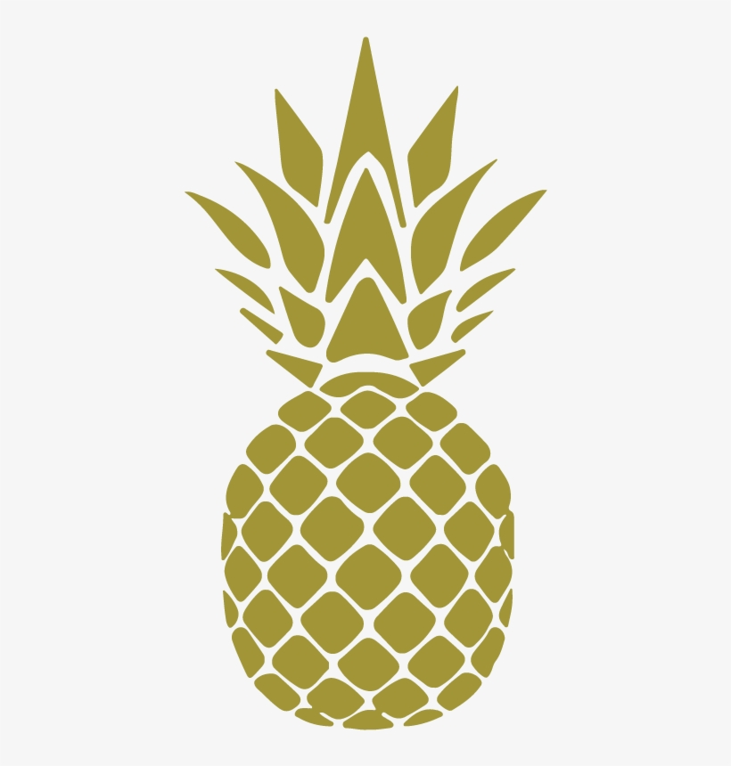 Pineapple Silhouette PNG Images.