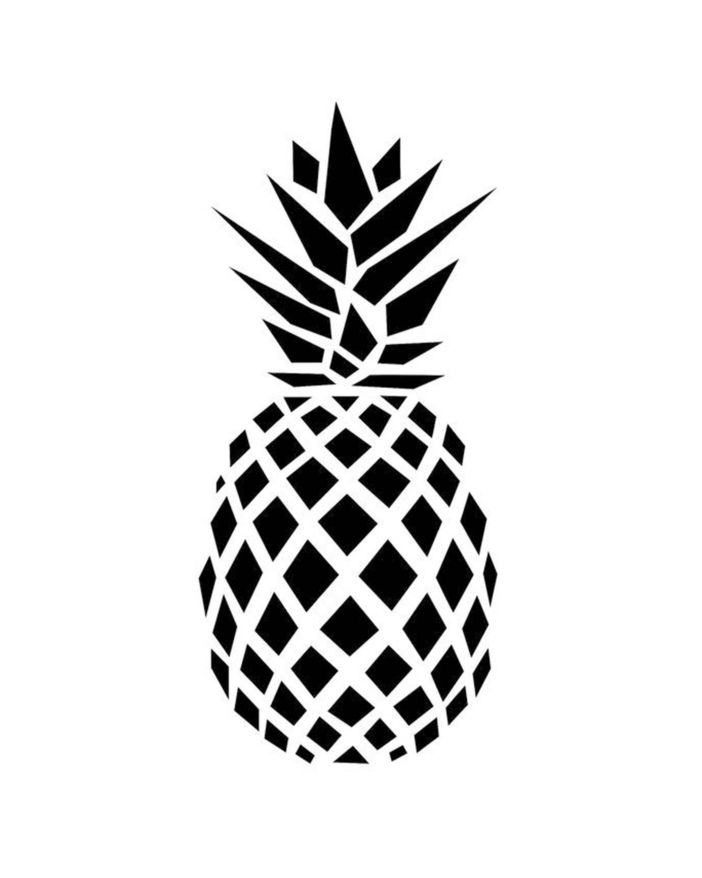 Pineapple Silhouette.