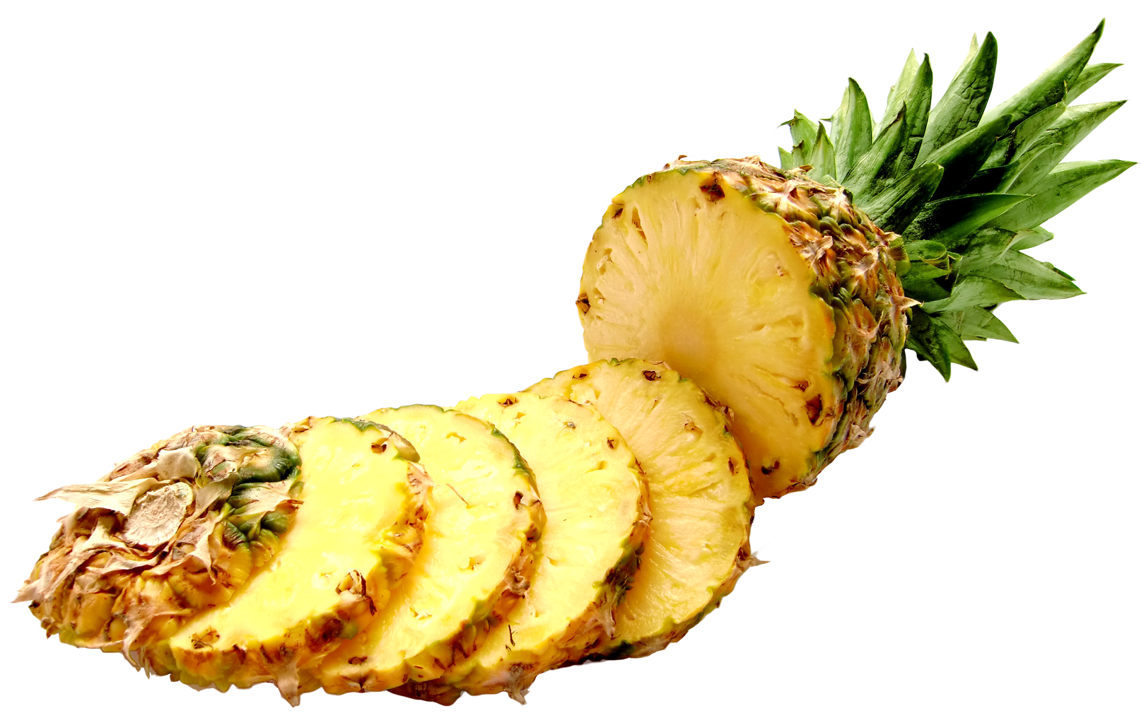 Pineapple slices PNG Image.