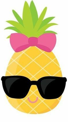 Pineapple Clipart, Cute Pineapple Clip Art , Sunglasses.