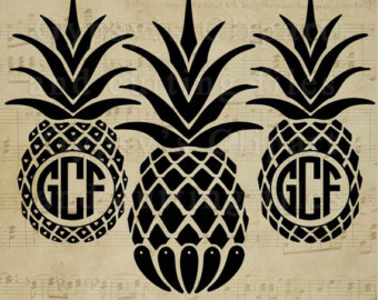 Pineapple clipart svg.