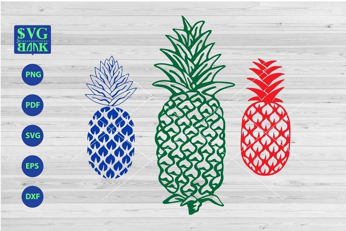 Pineapple svg, set of pineapple clipart, pineapple vector.