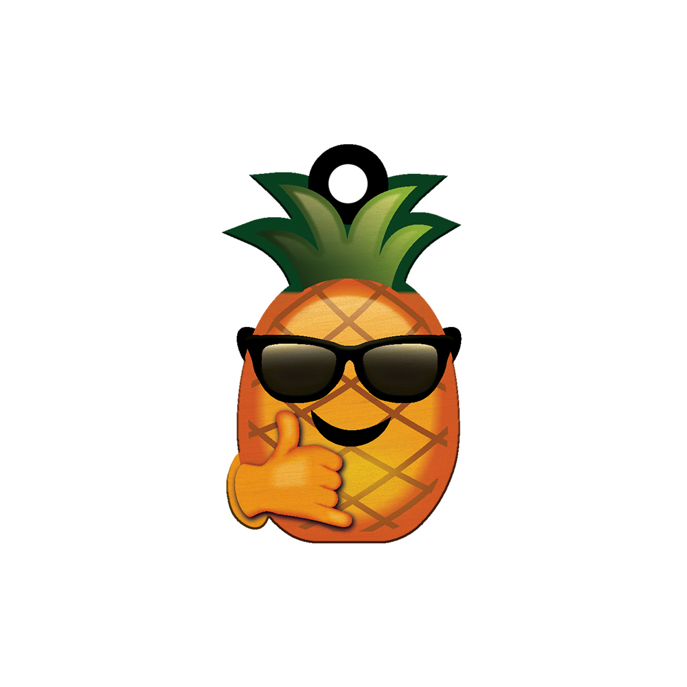 Cocomoji Pineapple Sunglasses Keychain.