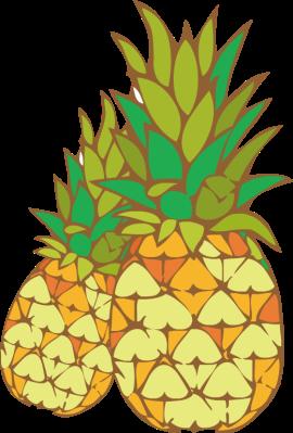 Pineapple fruits clip art 2 clipartwiz.
