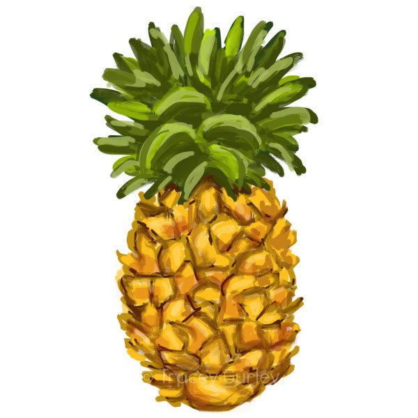 Pineapples clipart.