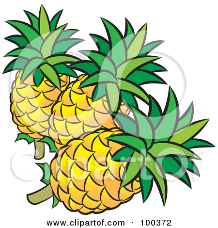 Clipart of a Pineapple.
