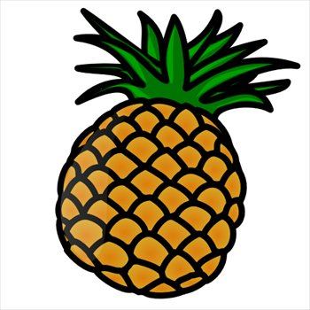 Free pineapple clipart.