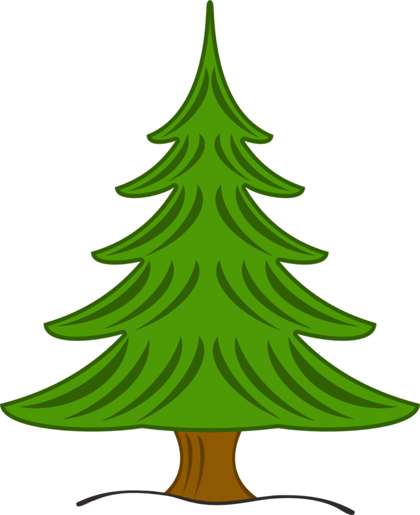 Dipper Pine Tree Clipart.
