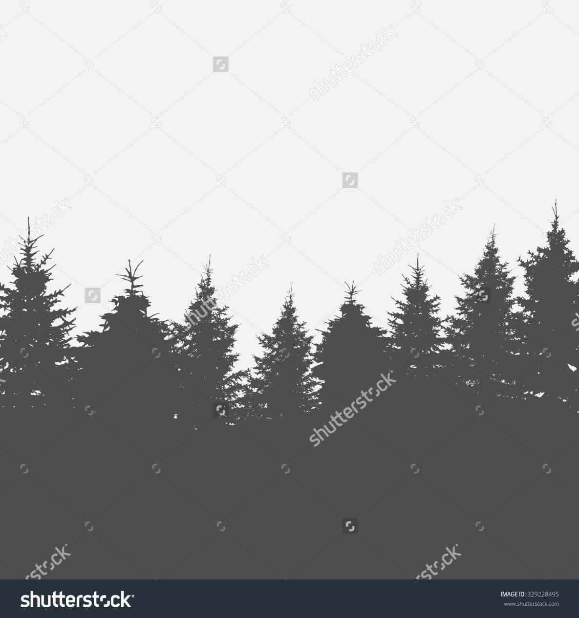 woods silhouette vector.
