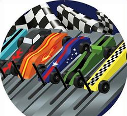 Free pinewood derby track Clipart.