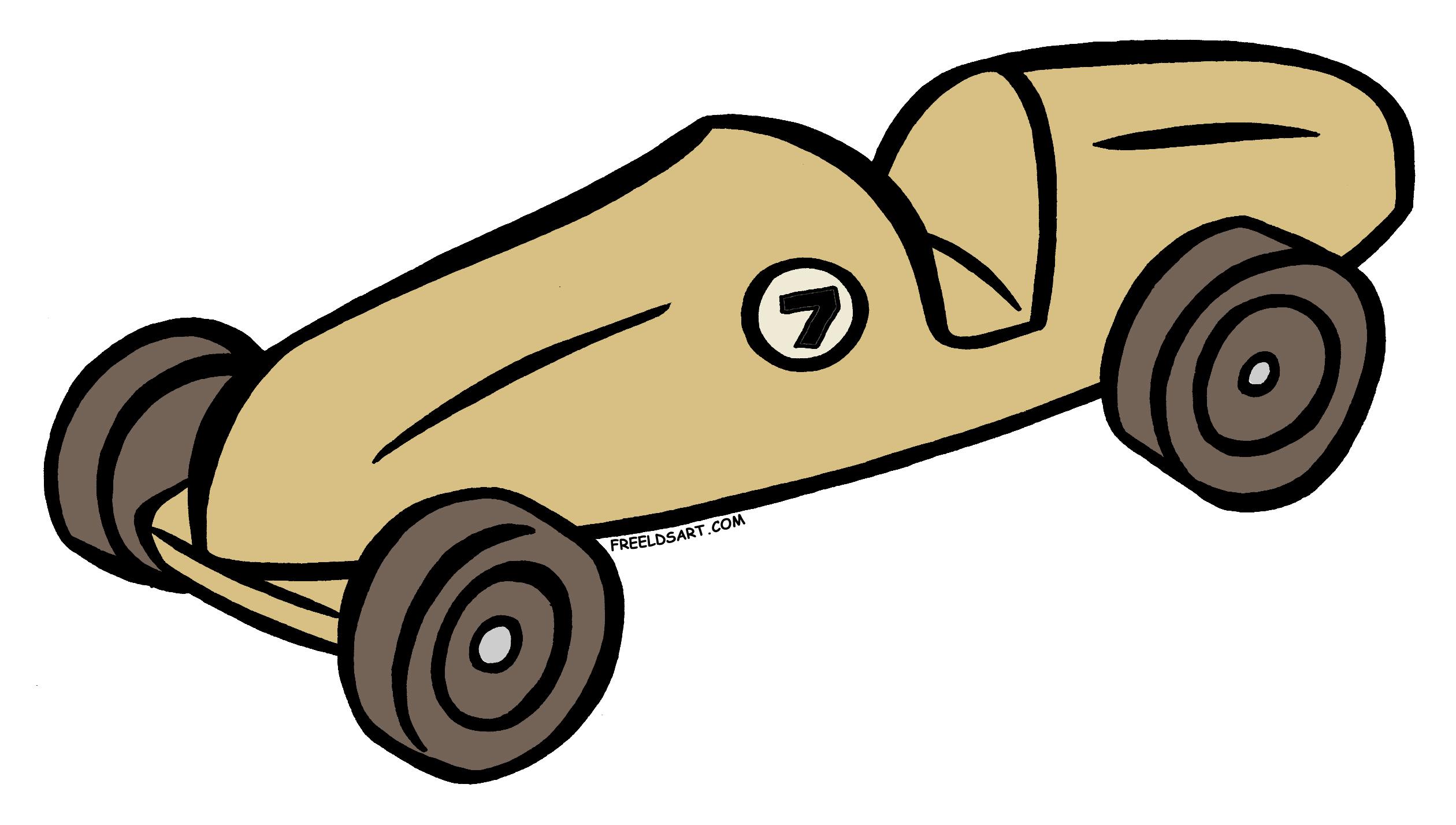 Pinewood Derby Car Clip Art N10 free image.