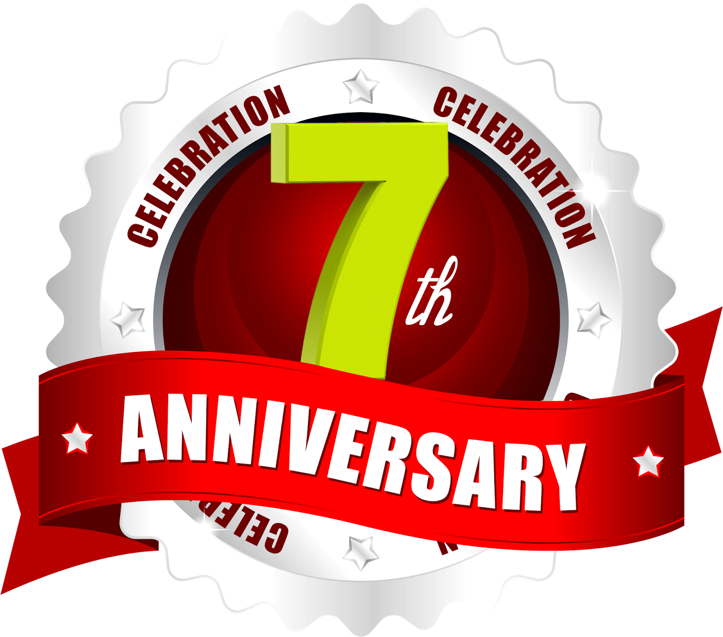 7 Years Celebrations Hd Ping Logo Free Downloads.
