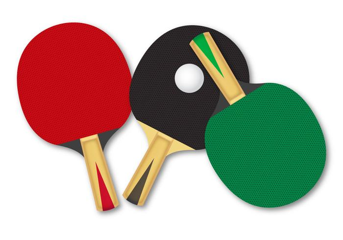 Free Rackets For Table Tennis Vector.