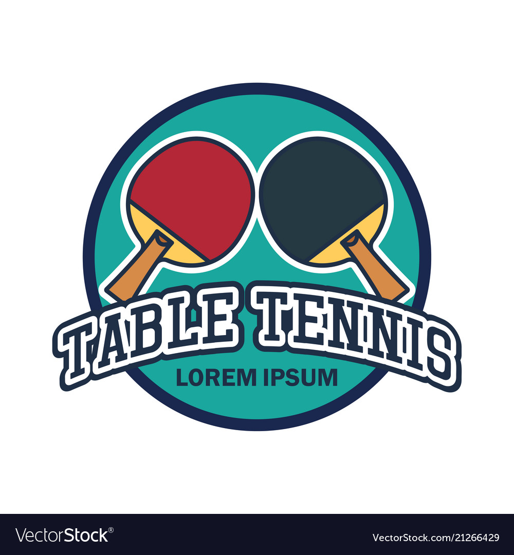 Table tennis ping pong logo with text space.
