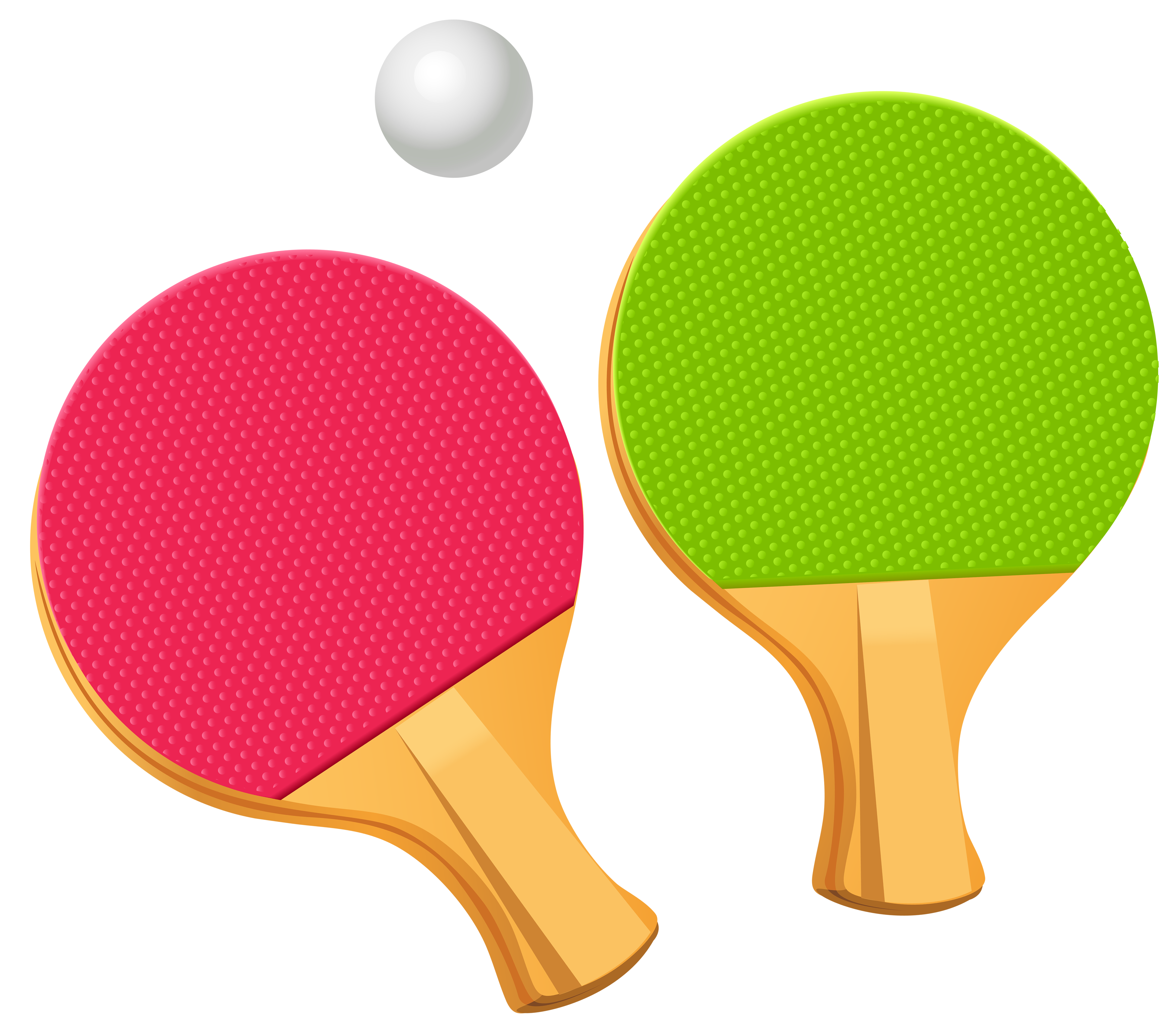Table Tennis Ping Pong Paddles PNG Vector Clipart.