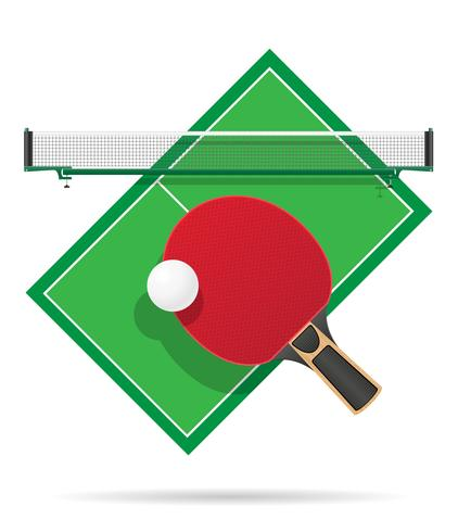 ping pong table vector illustration.