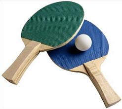 Free Ping Pong or Table Tennis Clipart.
