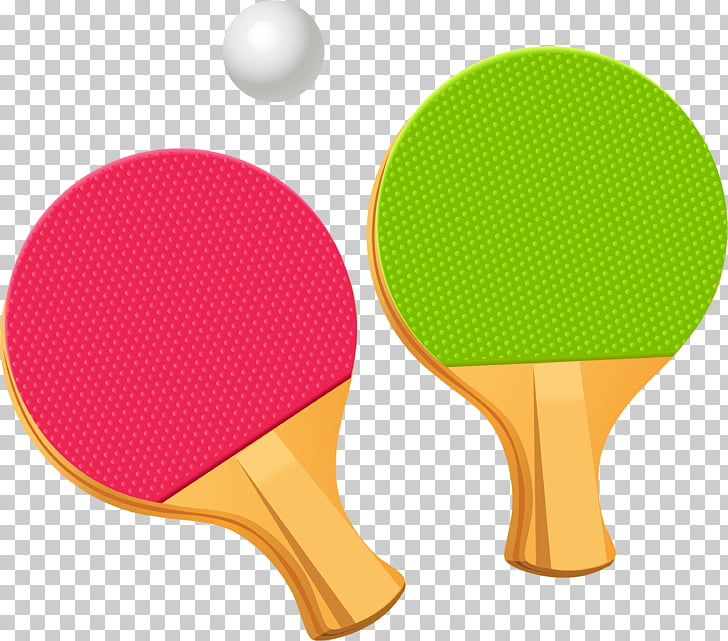 Table tennis racket , Ping Pong racket PNG clipart.
